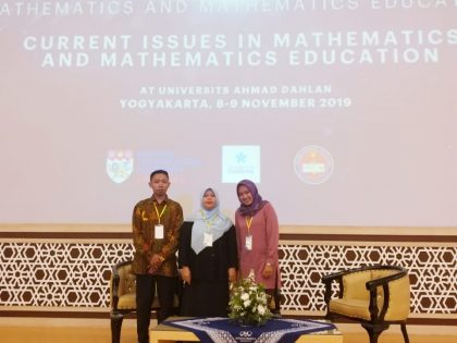 Dosen Pmat Jadi Pemakalah di International Conference on Mathematics and Mathematics Education